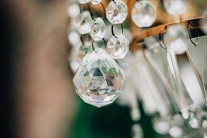 Vintage chandelier close up