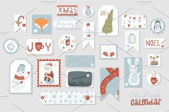 Merry Christmas - cute set ~ Illustrations ~ Creative Market on