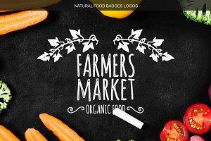 Natural Food Badges Logos