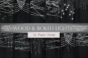 Silver lights on wood