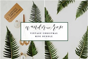 Vintage Christmas Mockup Bundle