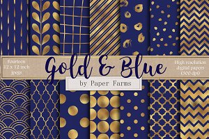 Gold and royal blue backgrounds