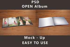 Open - Photo Album Mock up