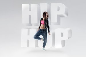 Set of photos of hip hop dancers