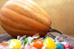 Pumpkin and candies