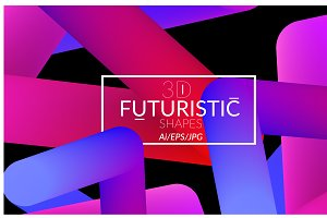 3D vector futuristic shapes
