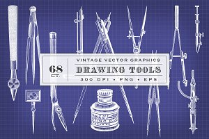 Vintage Vector Drawing Tools