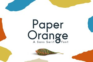 Paper Orange Font Family