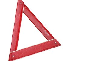 warning triangle sign isolated over white