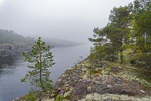 Granite shores of Lake Ladoga