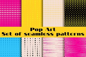 Pop Art seamless patterns