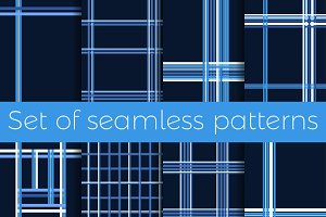 Stripes set of seamless patterns