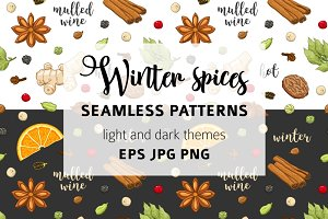 Pattern with mulled wine spices