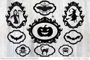 Halloween vector design elements