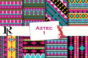 Aztec digital paper - background