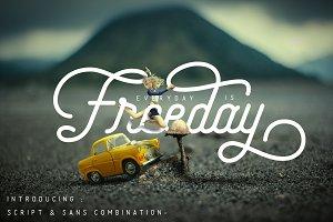 Freeday Script & Sans Font