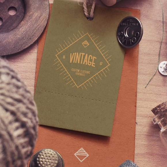 12 Vintage Logos in Logo Templates - product preview 2