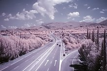 Highway picture - infrared shot