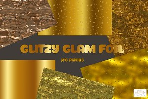 Glitzy Glam Metallic Foil Papers