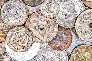Coins macro shot