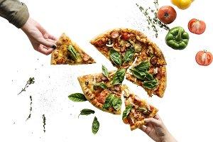 Italian cuisine pizza (PNG)