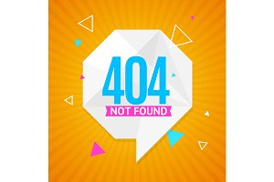 404 Not Found Concept. Vector