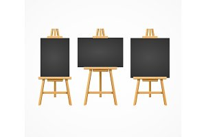 Black Board Easel Blank