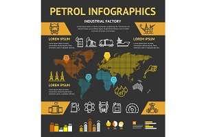 Petrol Oil Industry Infographic