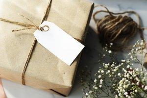 Close up a box of present (PNG)