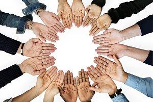 Diversity hands team (PNG)