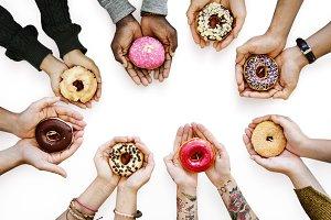 Donut dessert (PNG)