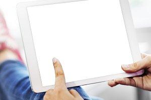 People using digital tablet (PNG)
