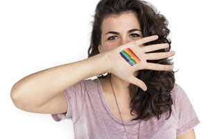 Woman Casual LGBT Portrait(PNG)