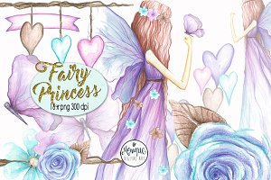 Fairy clipart Watercolor