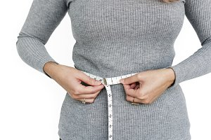 Waist Tape Measure Woman (PNG)