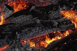 Wood flaming