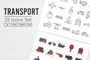 Transport and Vehicles UI Icons Pack