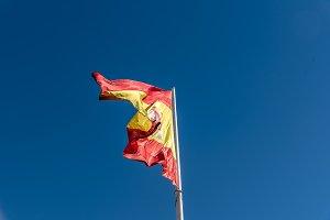 Spanish flag waving