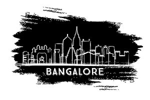 Bangalore India Skyline Silhouette.
