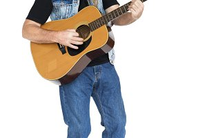 Man Playing Guitar Music (PNG)