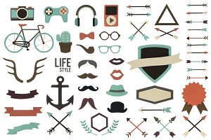 Paper craft hipster (PNG)