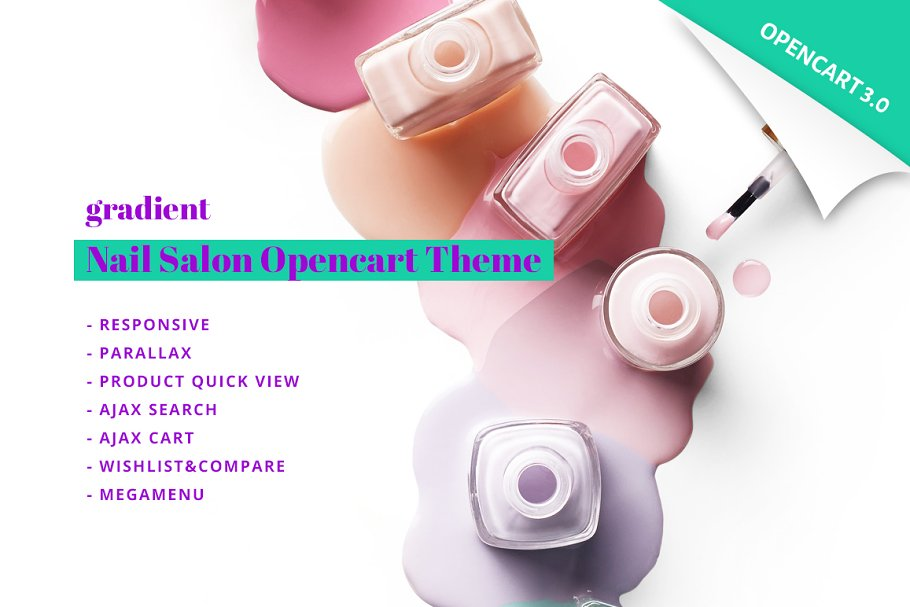 Nail Salon OpenCart Template