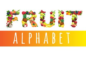 Vector Fruit Alphabet