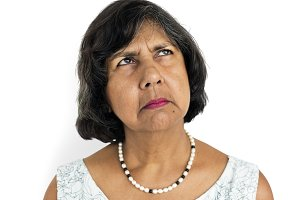 Mature Lady Frowning(PNG)