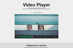 Flat Full Set Video Player