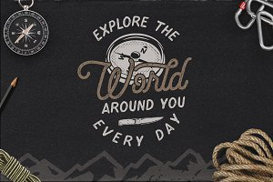 Vintage Travel Logo / Explorer Badge