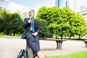 Businessman Taking A Break