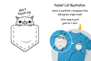 Pocket Cat Clipart
