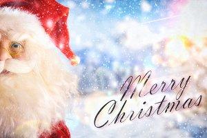 Santa claus detail doll snow titled