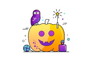 Halloween vector illustration Poster